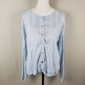 St. John Lightweight Sheer Sequin Cardigan XL